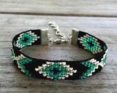 Handmade Transluscent Jade Beaded Bracelet