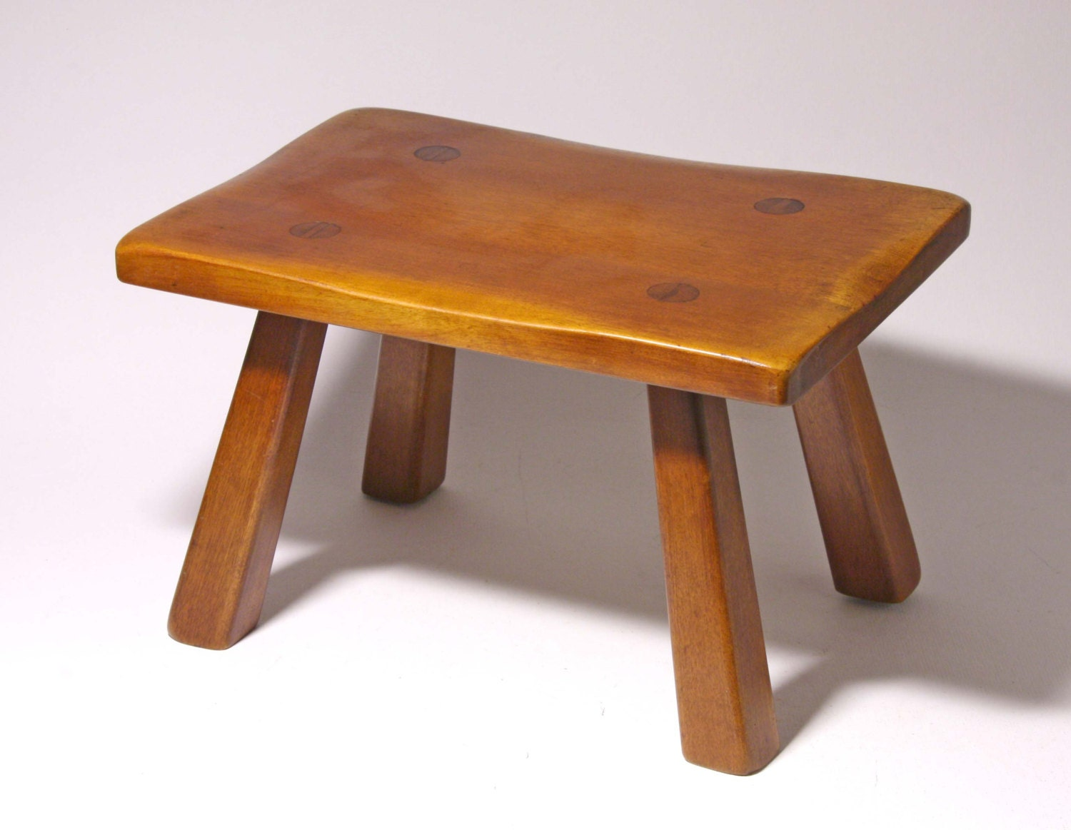 Vintage Maple Foot Stool Circa 1940 S Made By Cushman