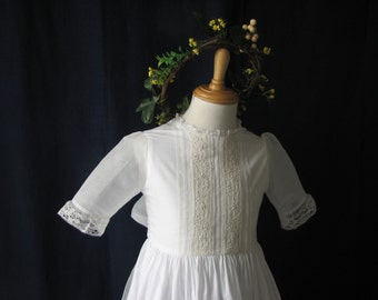 Flower Girl, communion and special occasion dress. Crafted with 100% cotton batiste and embellished with fine hand embroideries.