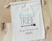 Bride's Tribe - Personalized Favor Bags - Set of 10 - Bachelorette Party - Wedding Shower