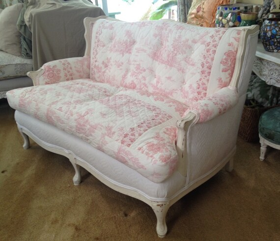 Sale Vintage Cottage French Country Sofa Loveseat Sale