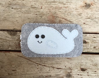 wool felt whale cell phone case - iphone 4, iphone 5, iphones 6, iphone 6 plus, iphone se, android,  samsung galaxy s4 s5 s6