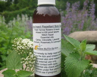 Insect Deterrent, Repellent Body Spray, Herbal, Yarrow, Aromatherapy, Deet free