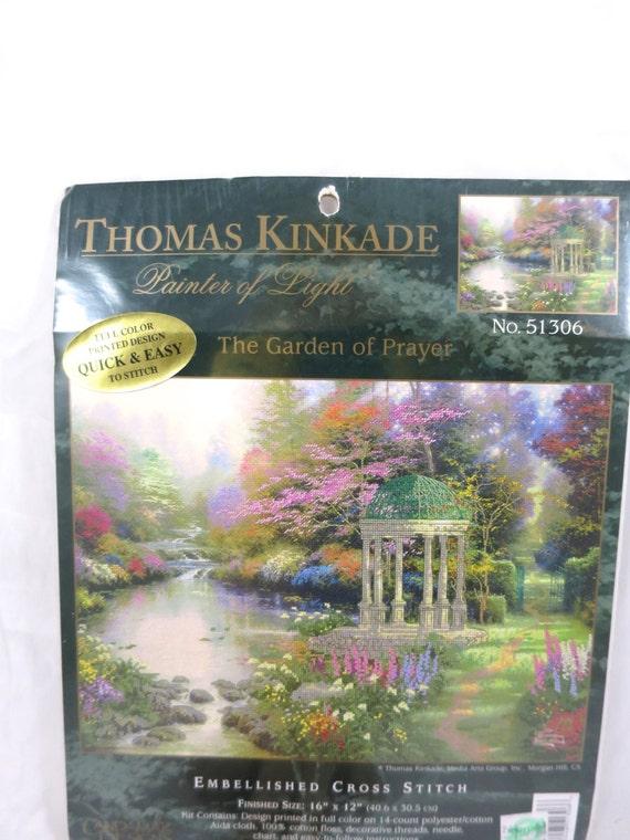 Cross Stitch Garden Kit Thomas Kinkade Garden Of Prayer No