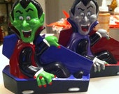 One Dracula in Coffin Halloween Ready to Paint Ceramics Poured by CrazyOldLadyJC