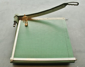Large Industrial Old School Vintage 19 inch Paper Cutter