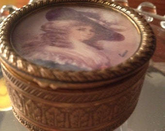 French Miniature Portrait Box Signed Eucas