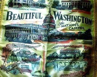 Vintage Washington D.C. Satin Pillowcase