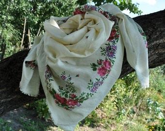 vintage  shawl • scarf
