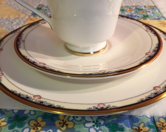Vintage Rhodes 3 Piece Tea Set By Royal Doulton Made In England Fine Bone China #2180