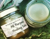 All Purpose Healing Salve with Comfrey, Yellowdock,  Chickweed, and Yarrow.
