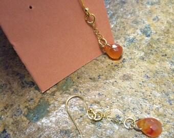 Carnelian drop earrings