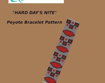 HARD DAY'S NIGHT Peyote Bracelet Pattern