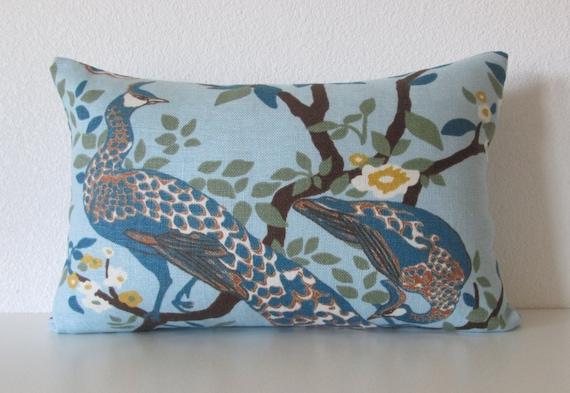 Jade Decorative Pillows : Dwell Studio Vintage Plumes Jade Peacock decorative pillow
