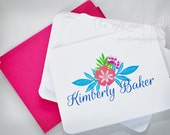 Vintage Floral Personalized Note Cards - Custom Made