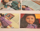 American Girl Rotllie Smittens Set of 4 Postcard and Recycled Envelopes