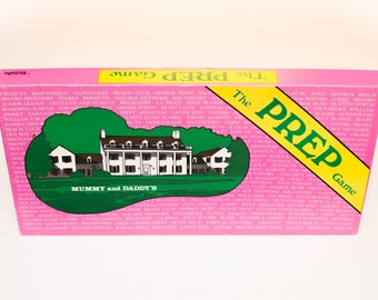 The Prep Game Boardgame, Vintage 80s, Preppy Hipster, 1981, College University Dorm Fun