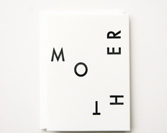 Mother - Letterpress Printed Greeting Card