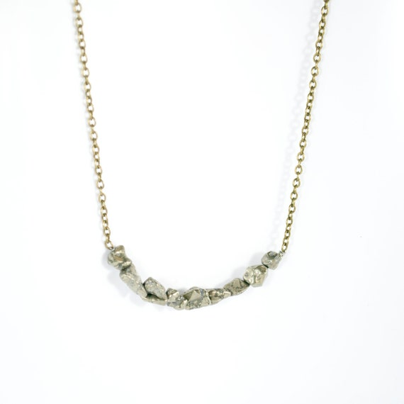 pyrite necklace moon rock jewelry space jewelry by