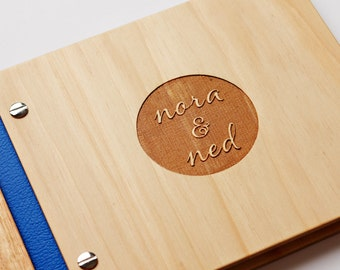 Custom Wedding Guest Book. Wood Guestbook. Small Wedding. Anniversary Gift. Engagement. Bridal Shower
