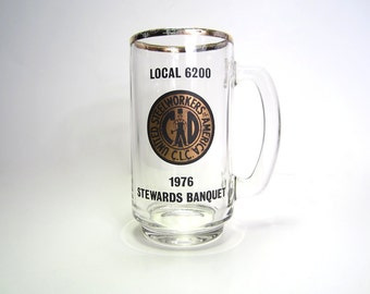 Vintage United Steelworker of America C.L.C Union Beer Mug Stein - Local 6200 Steward's Banquet - Collectible Souvenier