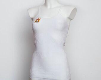 White lingerie tank dead stock Vintage size XS