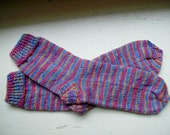 Hand Knit Soft And Warm  Women's  Merino Wool Socks, Size 8 - 8.5  (9.5 inches length)