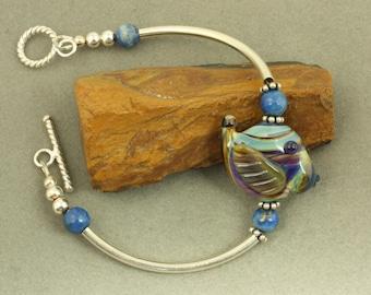 Summer Fish Lampwork Sterling Silver Bracelet
