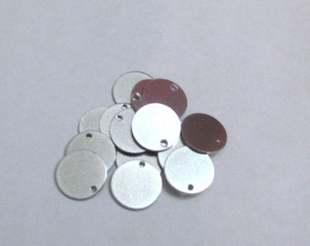 """1/2"""" Premium aluminum - 20 gauge -  Easy to use Hand stamping metal blanks with holes punched - Fast shipping"""