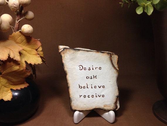 Desire Ask Believe Receive