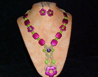 Hemp Necklace set Spring
