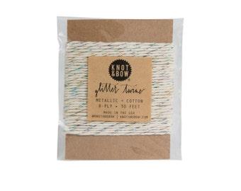 Prism/Natural Glitter Twine Card / The Original Glitter Twine / 10 Yards