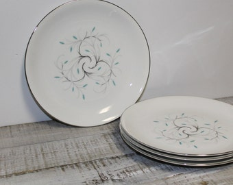 1950's Jeanette Pattern Dinner Plates Made in Japan, Set of Four