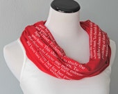 Personalized Branding Scarf, Company Logo Scarf, Purpose Statement Scarf, Employee Gift