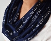 Little Prince Scarf, Book Scarf, Le Petit Prince Quote