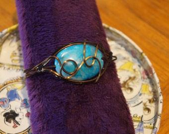 Vintage Style Wire and Gemstone Bracelets