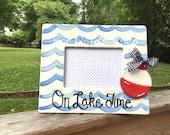 Lake, River, fishing picture frame