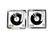 Music Cufflinks - DJ Turntable - Mens Musical Jewelry - Keepsake gift for Him