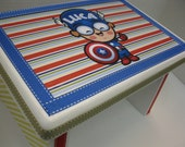 Superhero Luca Capt. America Little Boy's Bench