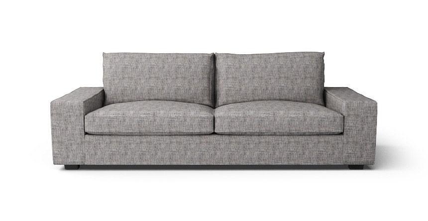 Ikea kivik 3 posti divano slipcover solo in tessuto grigio for Kivik 2 posti