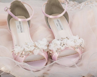 """1"""" Wedding Lace Shoes - Wedge - Wedding Shoes - Wedges- Parisxox By Arbie Goodfellow - Choose From Over 200 Color Choices - Dyeable Shoes"""