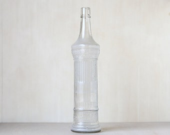 Tall Vintage Glass Bottle // Vintage chic home decor // Vintage Wedding Decor