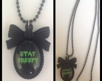 Stay Creepy Cameo Necklace