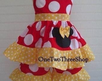 Custom Boutique Clothing Minnie Mouse Short Set