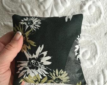 Balsam Fir Sachet - Organic Balsam Fir - Cotton Fabric- Balsam Sachet - organic lavender- Aromatherapy - Spa - black green white floral