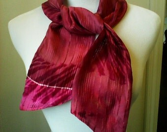 Deep Mauve Pinstripe scarf #PS004