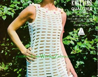 Mesh Dress Vintage Crochet Pattern PDF 774 from WonkyZebra