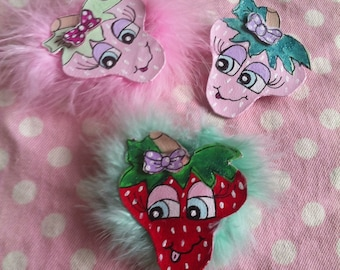 Strawberry Hairclip or Pin