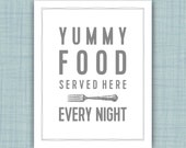 Funny Kitchen Art Print, Food, What's for dinner