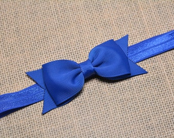 Royal Blue Bow Headband / Blue Baby Headband/ Baby Hair Accessories/ Baby Girls Hair Accessories/ Girls Hair Accessories/ Royal Blue Bow